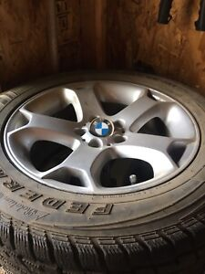 4 BMW Rims with winter tires