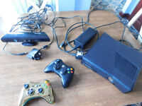 XBOX 360 with Controllers, KINECT and Leads