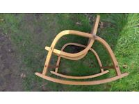 Young child's 1950s/1960s vintage plywood rocking chair.