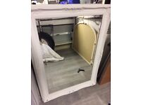 Wall mirror - beautiful timber carved frame painted shabby chic dove grey