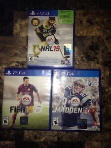 3 PlayStation 4 games/sell/trade for Xbox one stuff