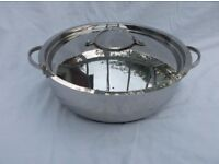 Stainless Steel 32cm Shallow Casserole by Hahn. Used.