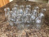 x 14 vintage glass bottle/vases for sale
