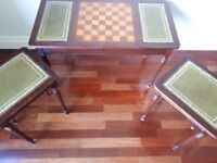 Very Unusual Chess Board Nest of Tables