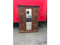 Edwardian mirror door wardrobe