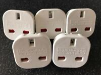 5 x Travel Plugs / Adaptors