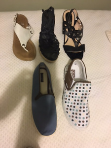 5 pairs Women's Summer Shoes - $15