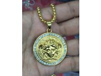Mens VERSACE gold necklace top quality