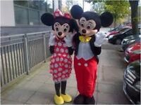 MICKEY MINNIE MOUSE MASCOT MASCOTS HIRE PARTY HARROW Meet Greet Ideas Theme CHILDRENS Costume KIDS