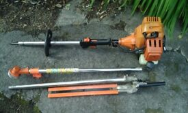 Petrol hedge cutter and grass strimmer