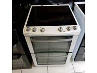 White and chrome ceramic top cooker (60 wide)