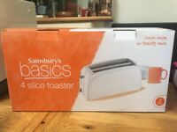 Sainsbury's basic white 4 slice Toaster.