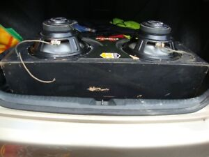 Pair of Kenwood Subwoofers for Car Stereo/Amp Enclosed in Box