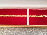 Brand New in Box Custom made 22 carat Gold bracelet. Custom made Straight from India