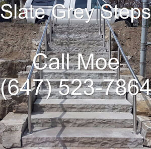 Slate Gray Steps Slate Grey Outdoor Steps Dark Grey Front Steps