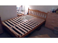 Wooden bed (double)