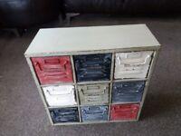 9 drawer wall mounting storage unit