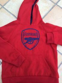 Arsenal jumper / hoodie. Size MB (med boys)