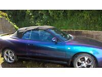 Rare Toyota Celica convertible 1992 purple flip paint