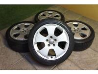 """Genuine Audi A3 8P 17"""" Alloy wheels 5x112 A4 VW Passat Golf T4 Caddy S Line"""