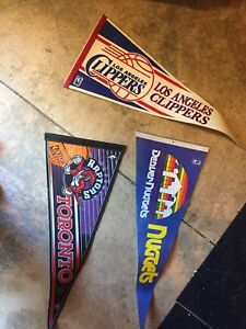 Vintage sports pennants/flags