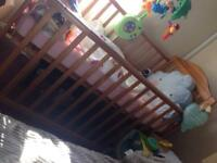 Baby cot bed with matress