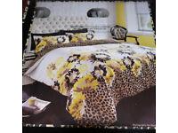 myleene klass SINGLE SIZE new duvet set, cover and pillow case, leopard/floral print