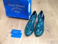 Shoes fabulous iconic Vivienne Westwood 'Melissa' Anglomania unworn Eur size 40 green vintage