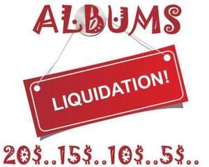 ALBUMS LIQUIDATION 15$ ET -
