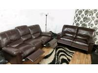 New real leather recliners 3+2 seater**Free Delivery**