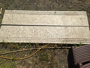 Marble look cement steps
