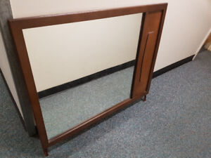 Big Mirror with Wooden Frame