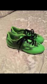 Adidas green football boots size 1