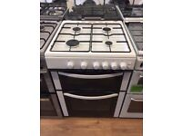 New Ex-Display Logik LFTG60W16 White 60cm Gas Cooker £219