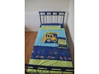 single bed with next little digger accessories - everything you need for a boys room