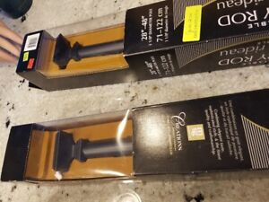 3 BRAND NEW CURTAIN RODS - STILL IN BOX