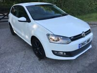 VW POLO WHITE 1.2 MATCH EDITION 3DR 2013 CAT C 1 YEAR MOT LOW MILEAGE 26793