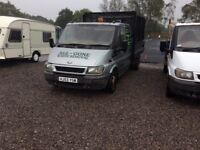 Ford transit double cab tipper