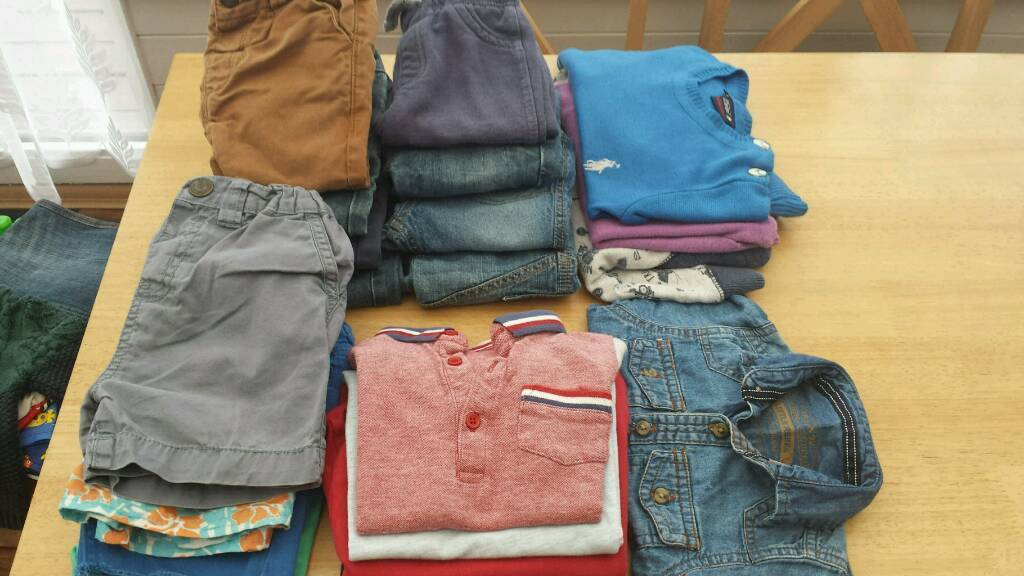 Childrens clothes bundlein Gosport, HampshireGumtree - Top jeans shorts jumpers shirt from little rebel, next,Ralph Lauren, F&F, george aged from 6 / 9 months 18/24 months collection only from gosport Po12 4sl