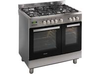 90cm Stainless Steel Duel Fuel Range Cooker Brand New in Box