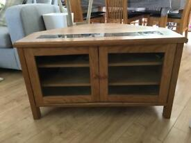 Solid oak and glass dining set