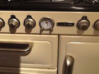 Range leisure multi fuel cooker.Cream in colour.