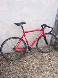 Trek T1 fixed wheel track bike with sprockets