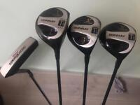 Golf clubs - Driver and Woods 1/3/5 plus putter