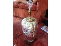 Two large vintage lamps