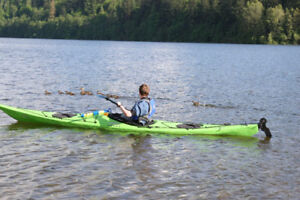 Excellent Condition Green Necky Eliza Polymer Sea Kayak for sale
