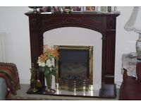 TRADITIONAL FIRE PLACE INCLUDING 2 KW DIMPLEX ELECTRIC COAL EFFECT FIRE