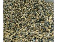 Drive gravel mixed colour pea shingle stone pebbles recycled washed 10/20/40mm