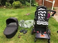 Mamas and Papas travel system (without car seat) and buggy board reduced to £65 for quick sale
