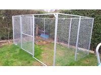 Hot-dip Galvanized Steel Dog Run (9 panels + gate)